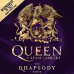 Poster turneu Queen Adam Lambert The Rhapsody 2021