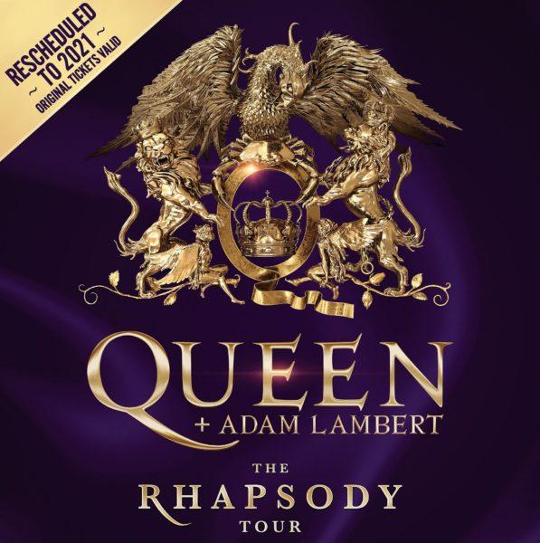 Poster turneu Queen Adam Lambert The Rhapsody 2021