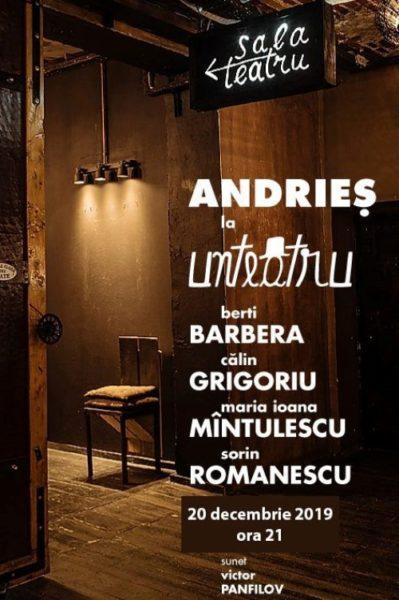 Poster eveniment Alexandru Andrieș - Transmisiune online în ziua de Paște