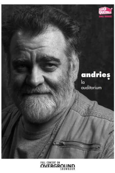 Poster eveniment Overground Showroom: Alexandru Andrieș live la sala Auditorium