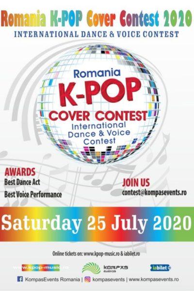Poster eveniment Romania K-POP Cover Contest 2020
