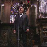 Andrea Bocelli cântând în Domul din Milano