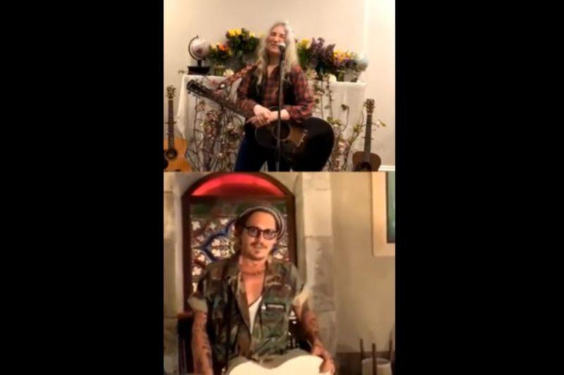 Patti Smith și Johnny Depp (captură ecran)