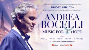 Poster Andrea Bocelli Music for Hope 2020