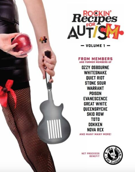 "Carte de bucate ""Rockin' Recipes for Autism"""