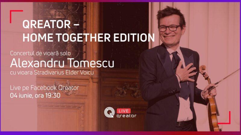 Poster eveniment Concert de vioară Alexandru Tomescu - live
