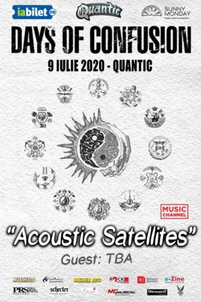 """Poster eveniment Days Of Confusion – \""""Acoustic Satellites\"""""""