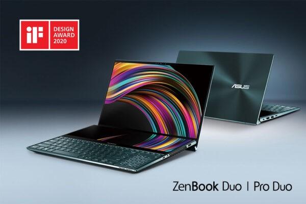ASUS ZenBook Pro Duo și ZenBook Duo au fost premiate la iF Design