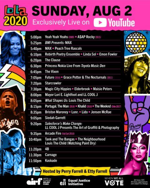 Lollapalooza 2020 - Programul de duminică, 2 august