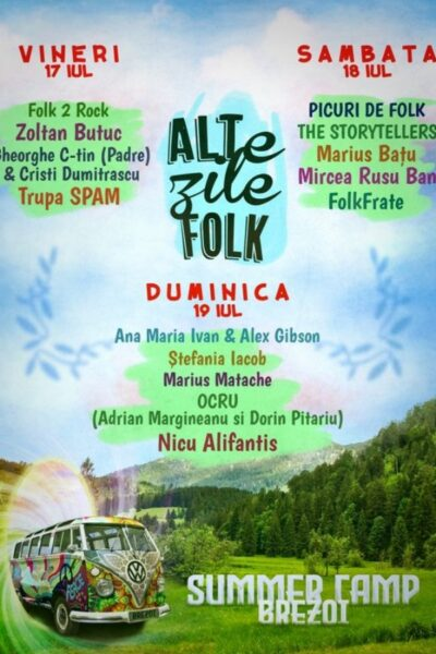 Poster eveniment ALTe zile FOLK - Summer Camp Brezoi