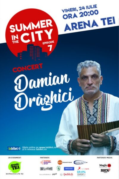 Poster eveniment Summer in the city – Concert Damian Drăghici