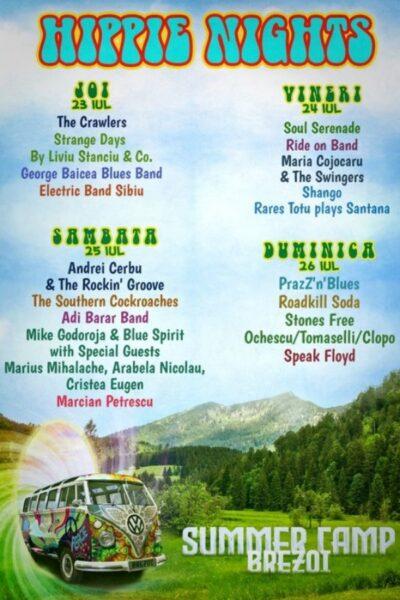 Poster eveniment Hippie Nights - Summer Camp Brezoi