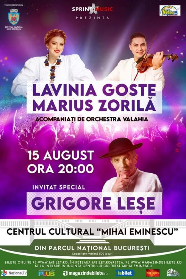 Lavinia Goste, Marius Zorilă, Grigore Leșe la Teatrul de Vară Mihai Eminescu