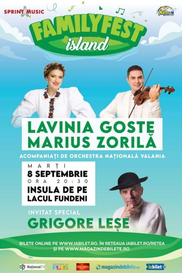 Lavinia Goste, Marius Zorilă, Grigore Leșe la FamilyFest Island (București)