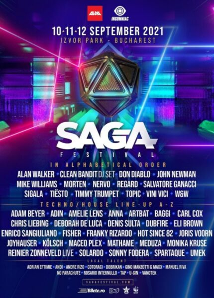 Poster eveniment SAGA Festival 2021