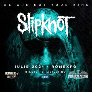 Concert Slipknot iulie 2021 poster
