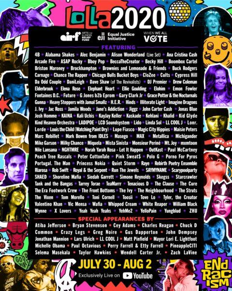 Lineup-ul Lollapalooza 2020