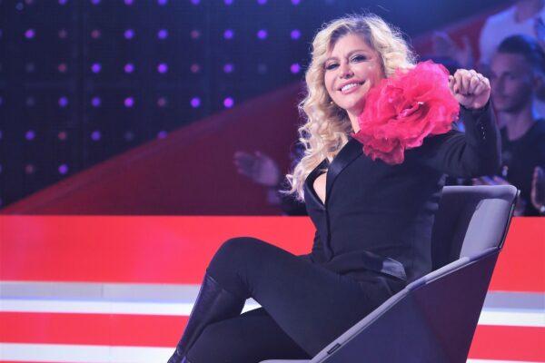 """Loredana în timpul emisiunii """"Falsez pentru tine"""""""
