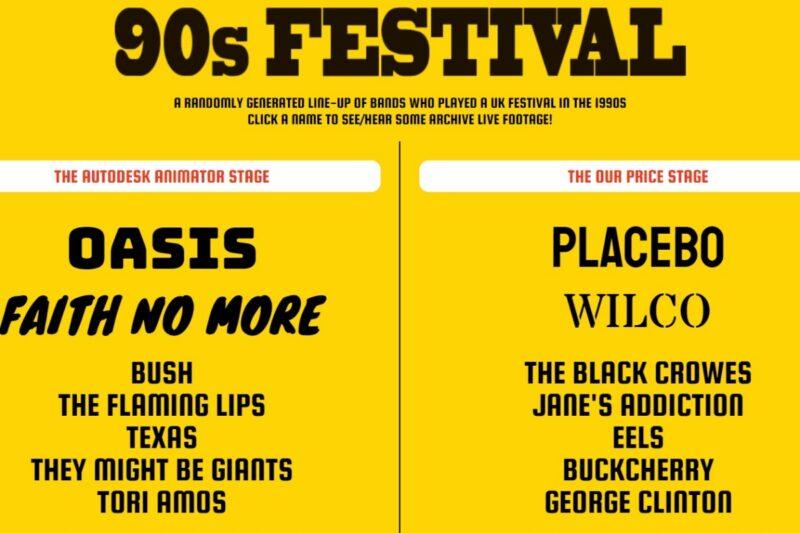 Exemplu de The 90's Festival