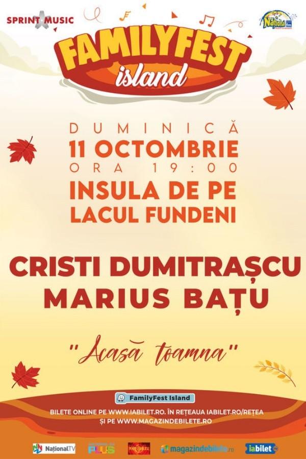 Cristi Dumitrașcu și Marius Bațu la FamilyFest Island (București)