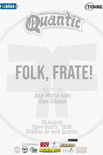 Poster eveniment Folk, Frate! - De Vară