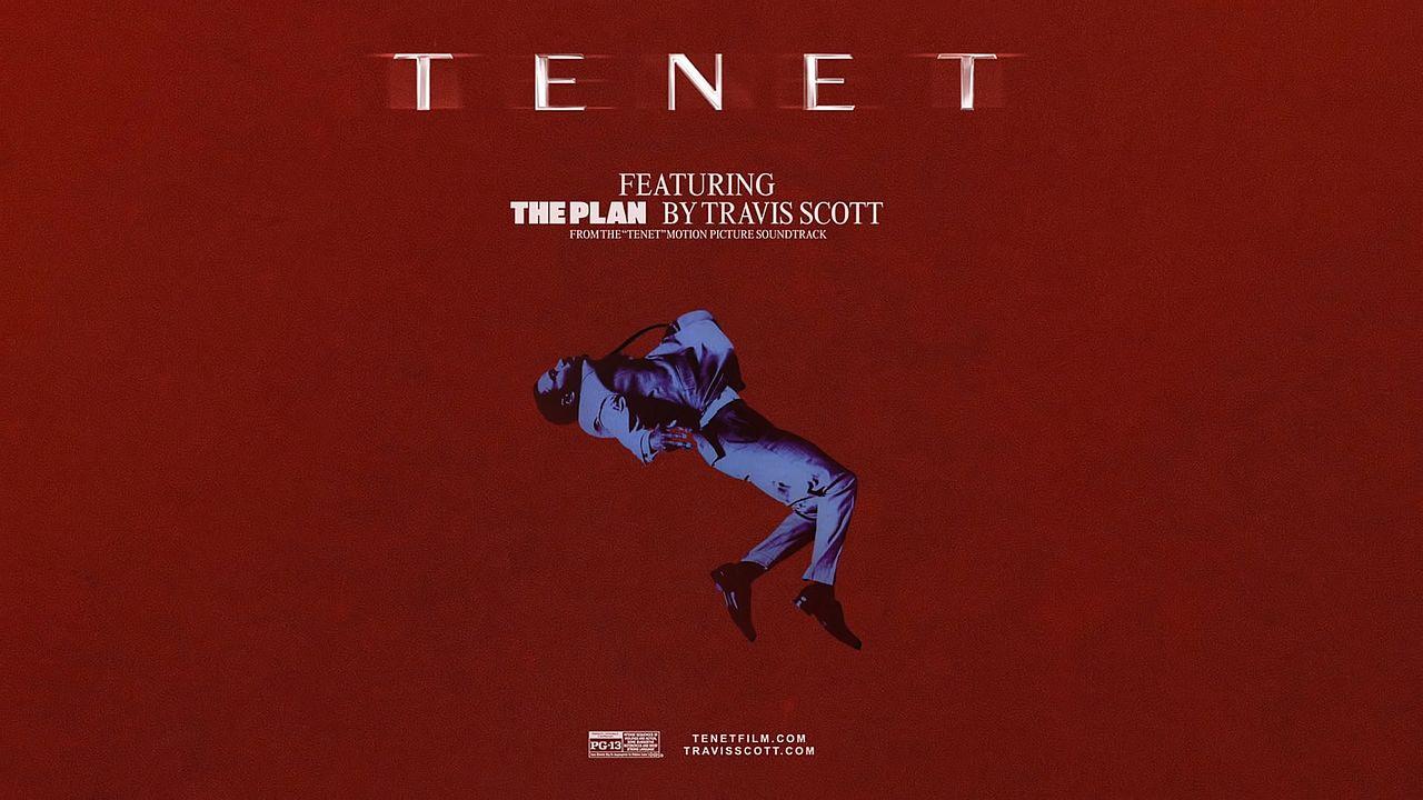 Coperta single Travis Scott The Plan coloana sonora TENET