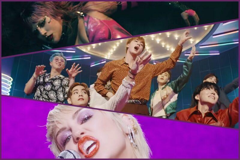 Lady Gaga / BTS / Miley Cyrus