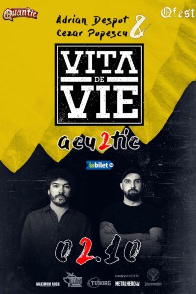 Poster eveniment Adrian Despot & Cezar Popescu - Vița de Vie ACU2TIC