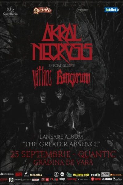 Poster eveniment Akral Necrosis - lansare de album