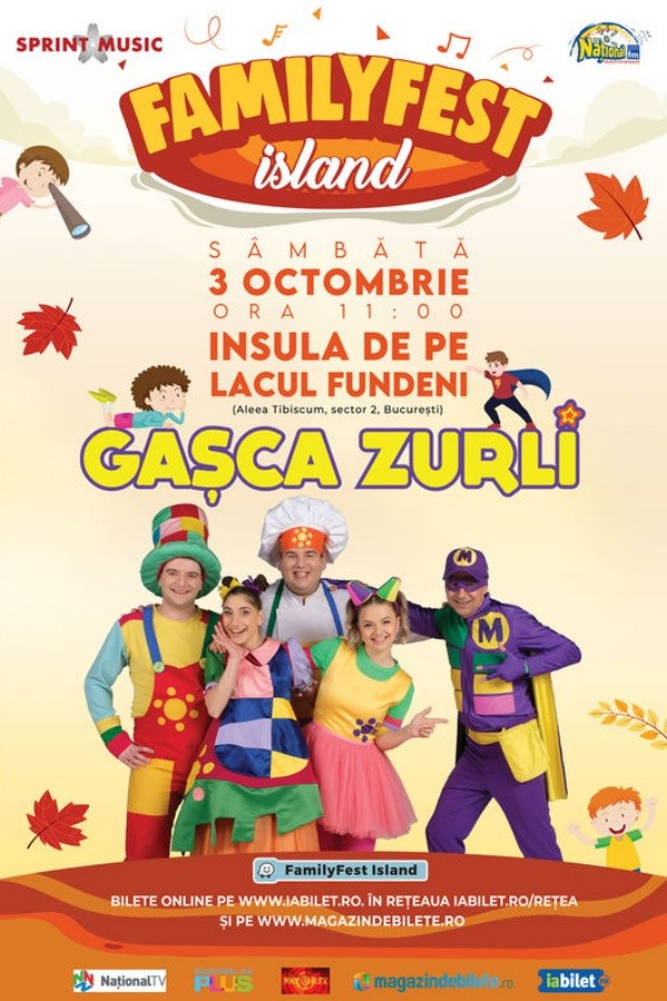 Gașca Zurli la FamilyFest Island (București)