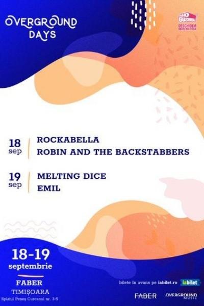 Poster eveniment Overground Days: Robin and the Backstabbers și Rockabella