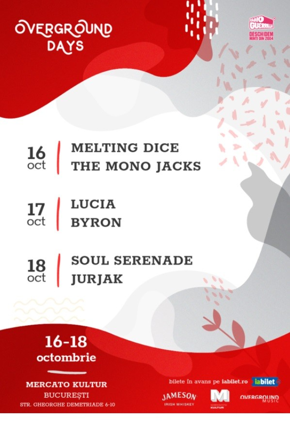 Overground Days: The Mono Jacks, Melting Dice la Mercato Comunale (Kultur)