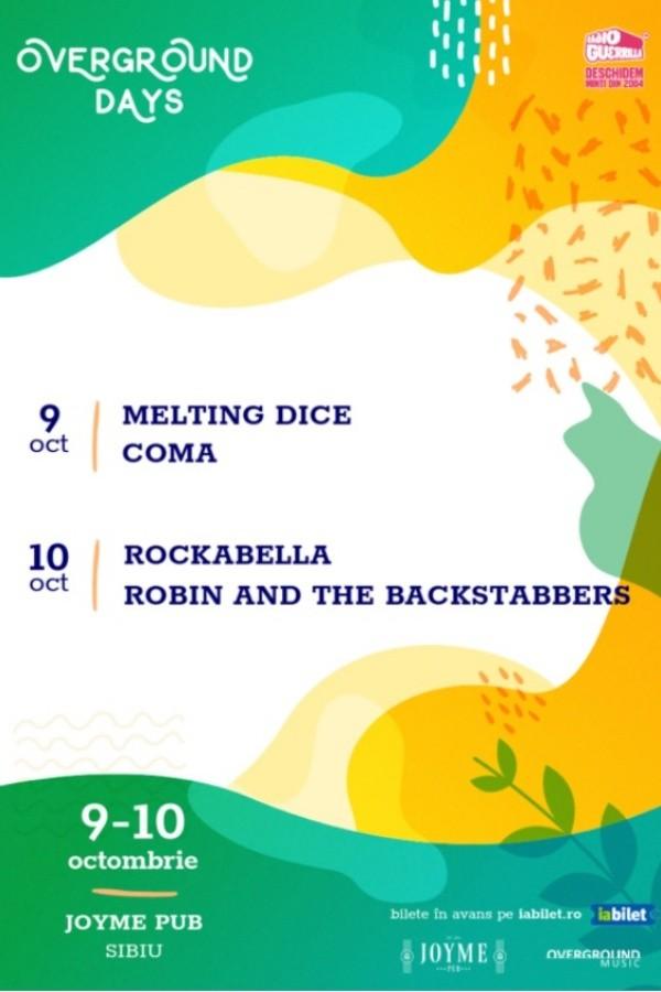 Overground Days: Robin and the Backstabbers și Rockabella la Joyme Pub (Sibiu)