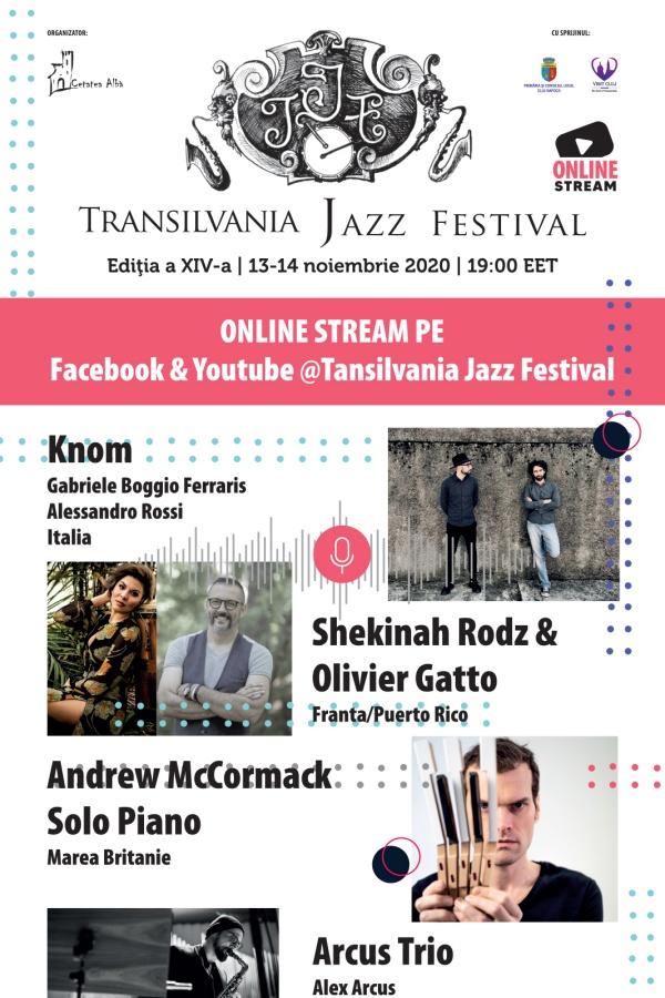Transilvania Jazz Festival 2020 la Transilvania Jazz Festival online