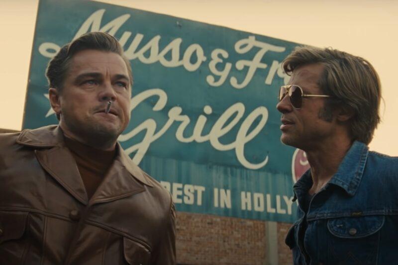 Leonardo DiCaprio și Brad Pitt în trailerul filmului