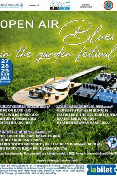 Poster eveniment Open Air Blues in the garden festival