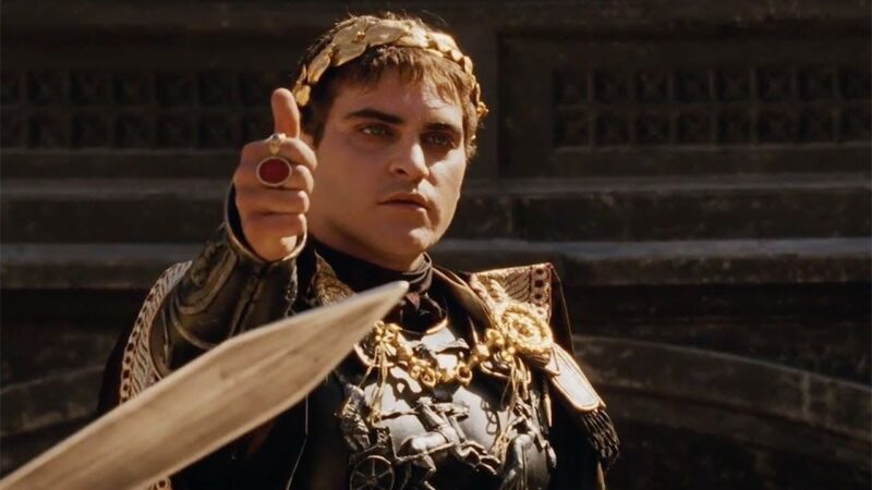 Joaquin Phoenix in Gladiatorul