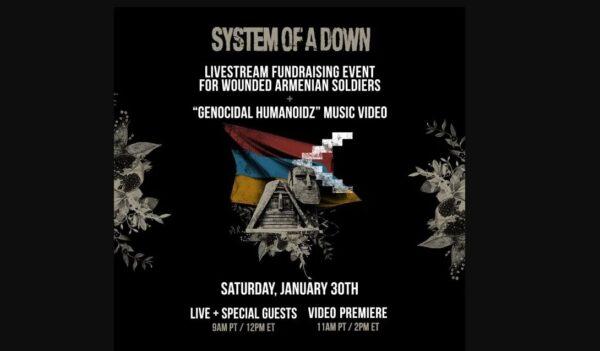 Lansare videoclip System of a Down Genocidal Humanoidz