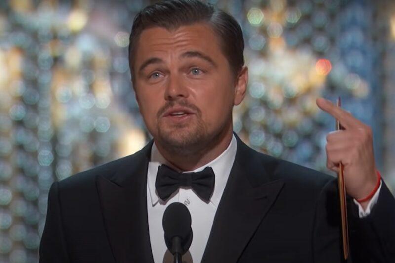 Leonardo DiCaprio la gala premiilor Oscar din 2016