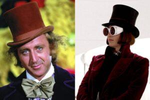 Gene Wilder/Johnny Depp în rolul lui Willy Wonka
