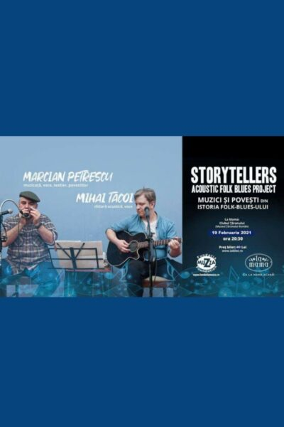 Poster eveniment Concert Storytellers cu Marcian Petrescu și Mihai Tacoi