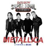 Poster Metallica Superbowl Late Show Colbert
