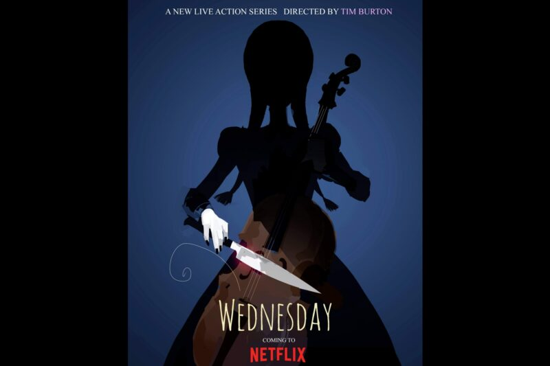 """Poster serial """"Wednesday"""""""