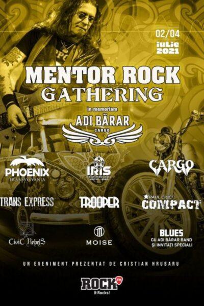 """Poster eveniment Mentor Rock Gathering \""""În Memoriam Adi Bărar\"""""""