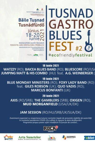 Poster eveniment Tușnad Gastro Blues Fest 2021