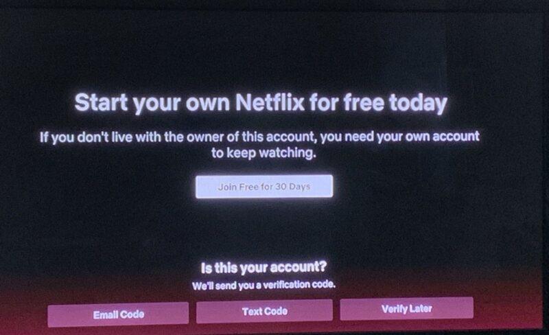 Verificare cont Netflix