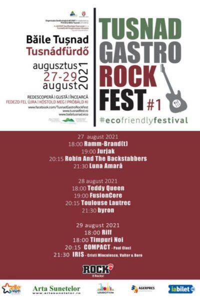 Poster eveniment Tușnad Gastro Rock Fest 2021