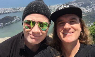 Dave Mustaine si David Ellefson in 2017