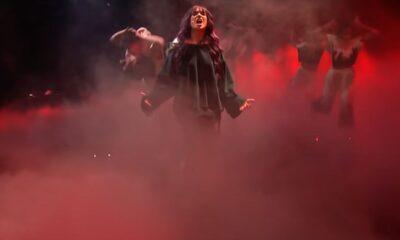 Roxen la cea de-a doua repetiție de la Rotterdam, înaintea semifinalei Eurovision 2021
