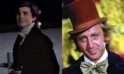 "Timothée Chalamet în ""Little Women"" / Gene Wilder în ""Willy Wonka & the Chocolate Factory"""